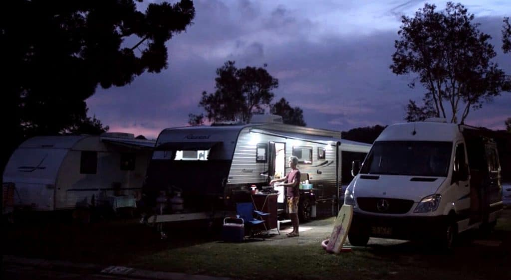 how to connect caravan to house electric
